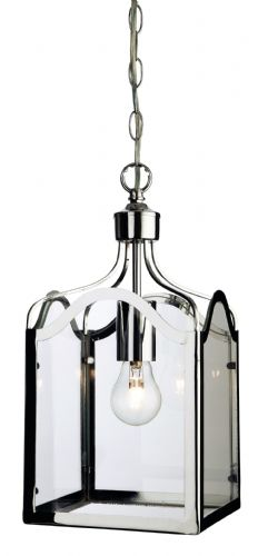 Firstlight 8637CH Chrome with Clear Glass Monarch Lantern - 1 Light